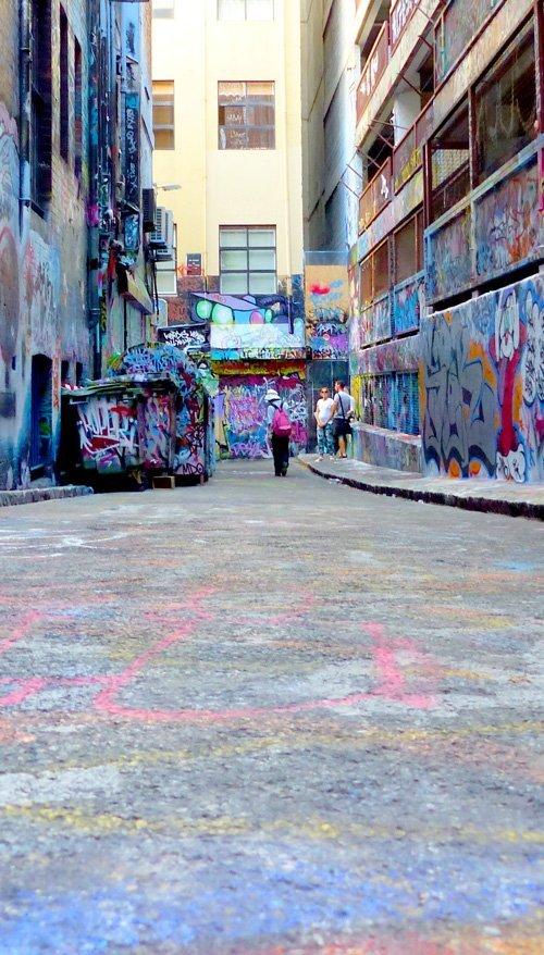 Melbourne Graffiti Hot Spot Hosier Lane
