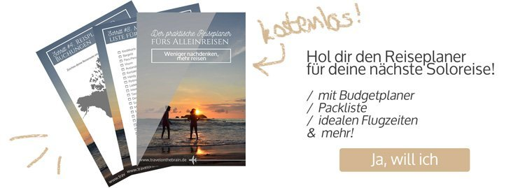 Hol dir den kostenlosen Reiseplaner von Travel on the Brain