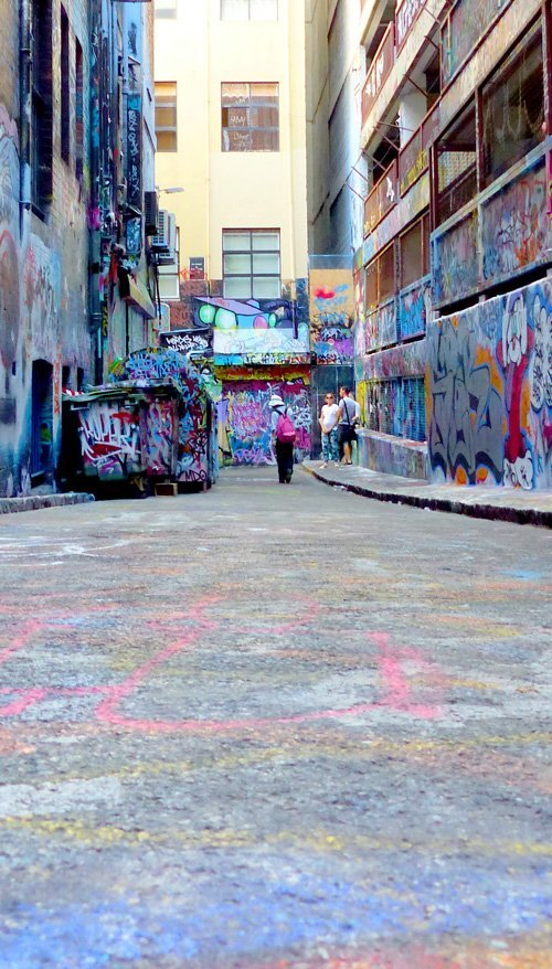 Melbourne Graffiti Hot Spot Hosier Lane