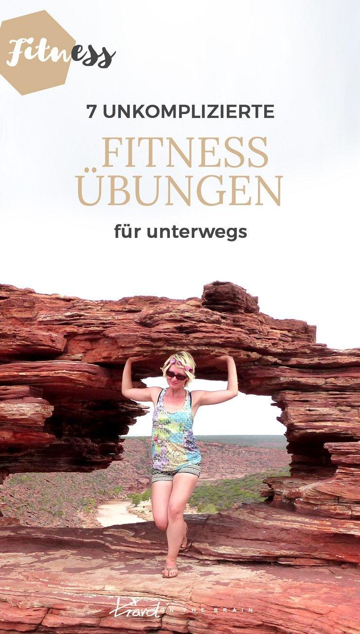 7 Unkomplizierte Fitnessübungen für unterwegs + praktisches Fitnessequipment