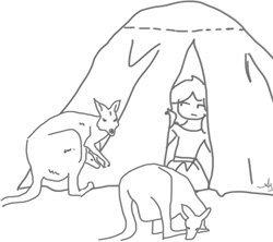 Outback Camping - Illustration von Annemarie Strehl