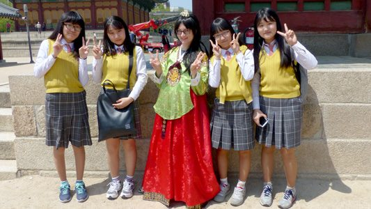 seoul sehenswürdigkeiten 02 - ein Hanbok mieten