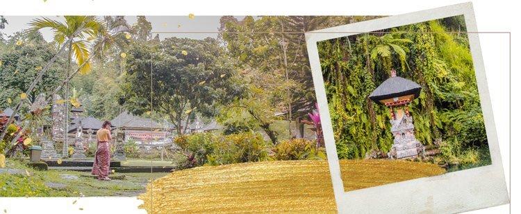 Im Garten vom Tempel Gunung Kawi Sebatu bei Ubud