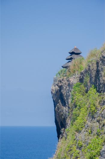 Uluwatu Tempel auf Klippe
