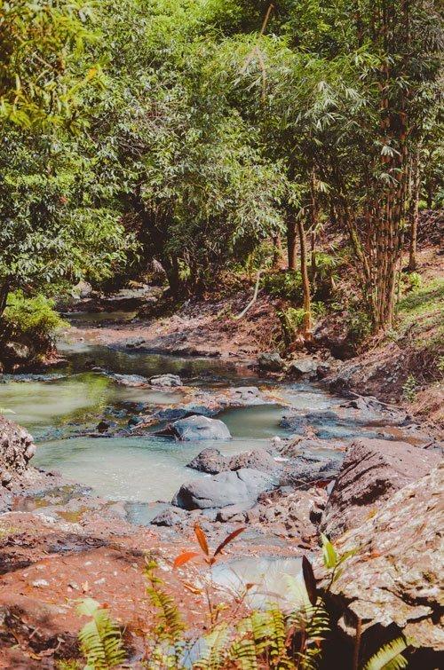 Flussverlauf bei Tabanan