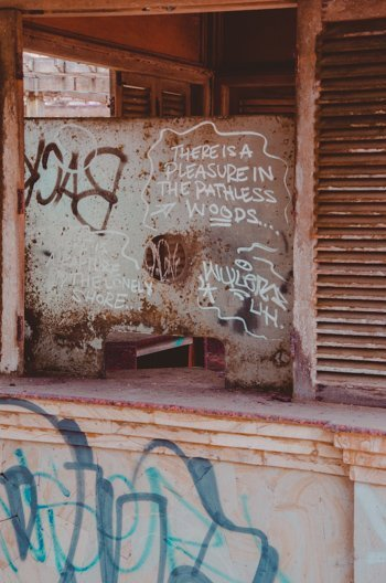 Verlassenes Tickethaus bei Taman Festival