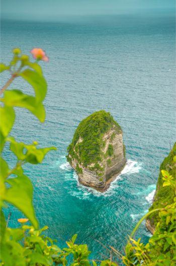 kleiner Fels beim Kelingking Strand auf Nusa Penida