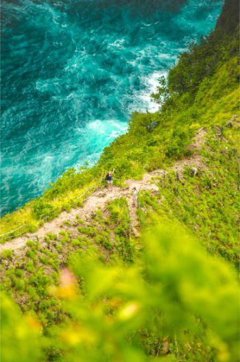Weg auf dem Rücken der Paluang Klippe, Nusa Penida