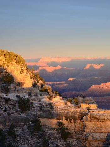 Grand Canyon bei Sonnenuntergang im Winter