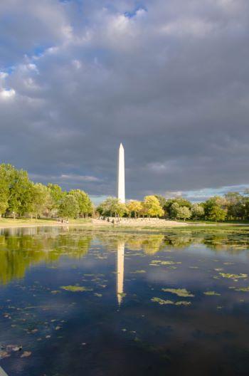 Washington DC Säule vor Teich