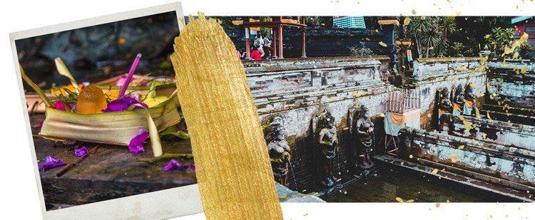 Impressionen von meiner Bali Reise - Opfergabe und Tempel-Bad