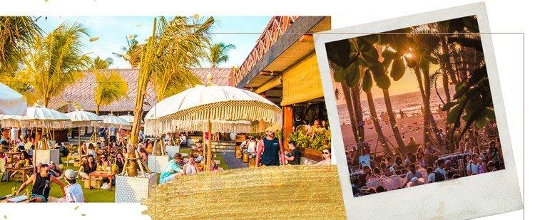 Entspannt Strandcafes genießen in Canggu, Bali