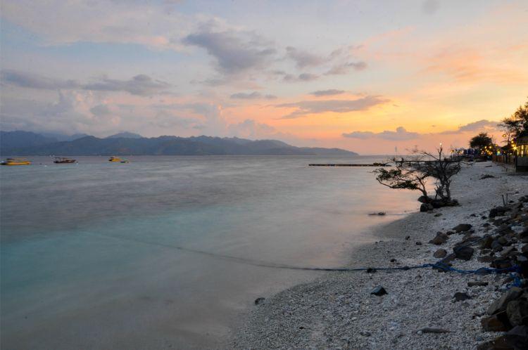 Sonnenuntergang über Gili Trawangan, Indonesien