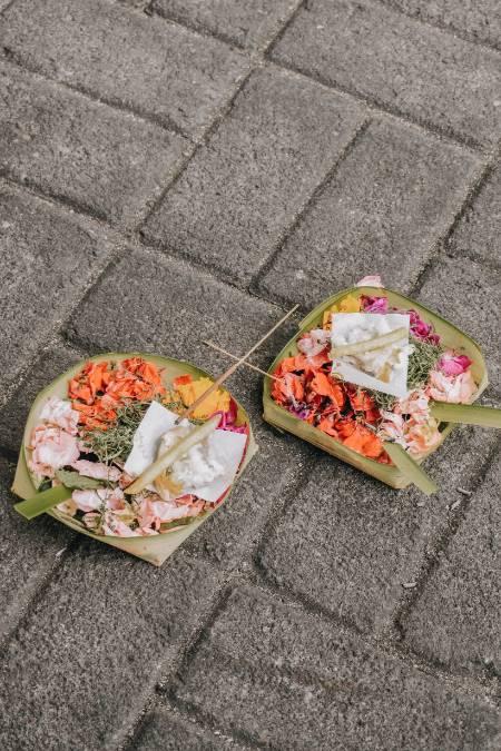 Opfergaben auf Bali