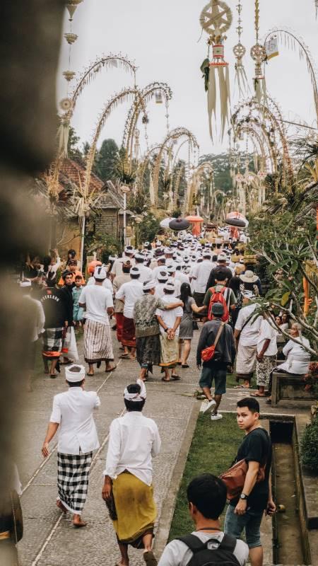 Religiöse Zeremonie auf Bali