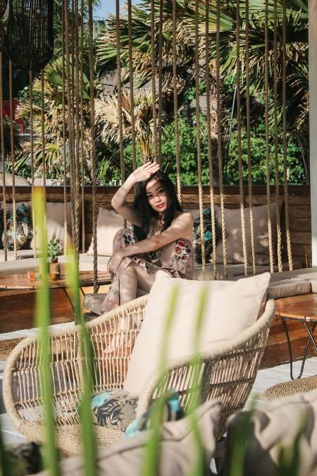 Frau in Bali