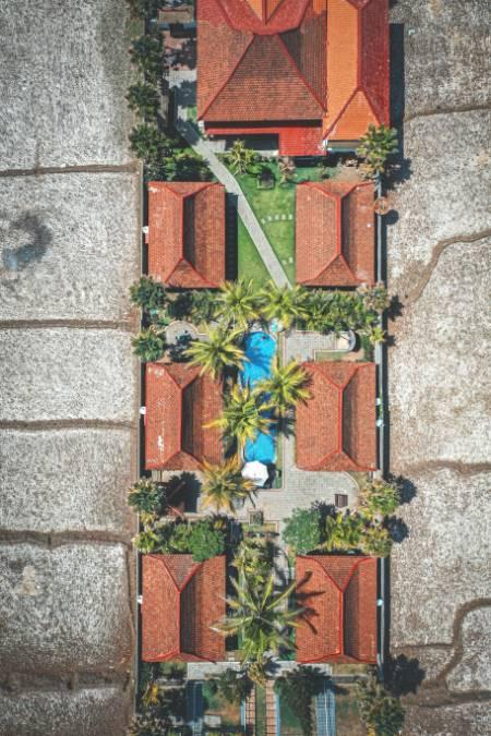 Villen auf Bali von oben