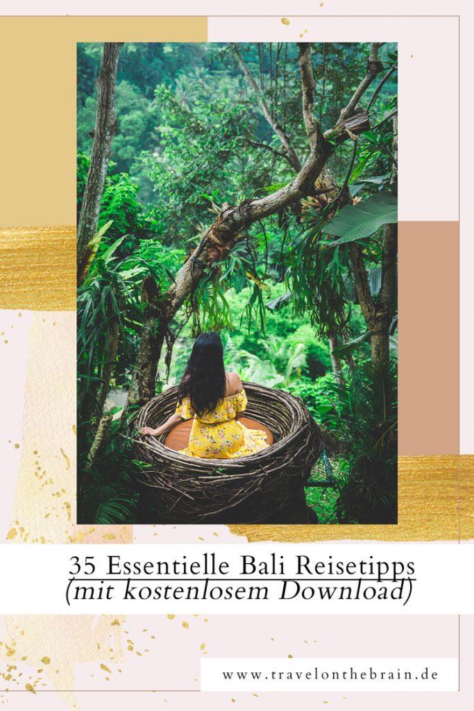 Pin: 30 Essentielle Bali Reisetipps auf einen Blick