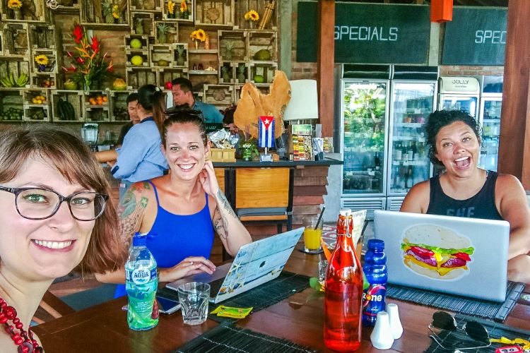 Arbeiten in Canggu mit digitalen Nomaden in Bali