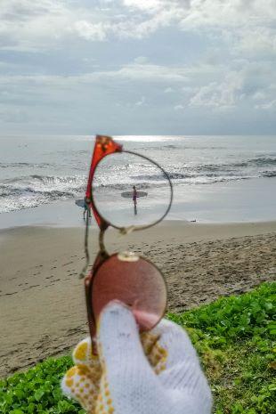 Müllsammeln am Strand von Bali