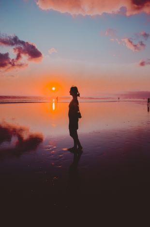 tägliche Sonnenuntergänge auf Bali
