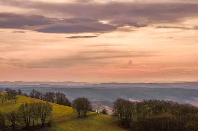 Sicht von der Leuchtenburg in Mitteldeutschland