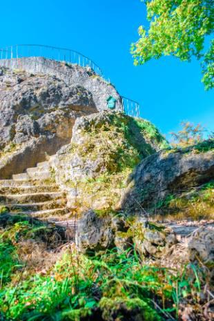 Aussichtsfels bei Schloss Altenstein