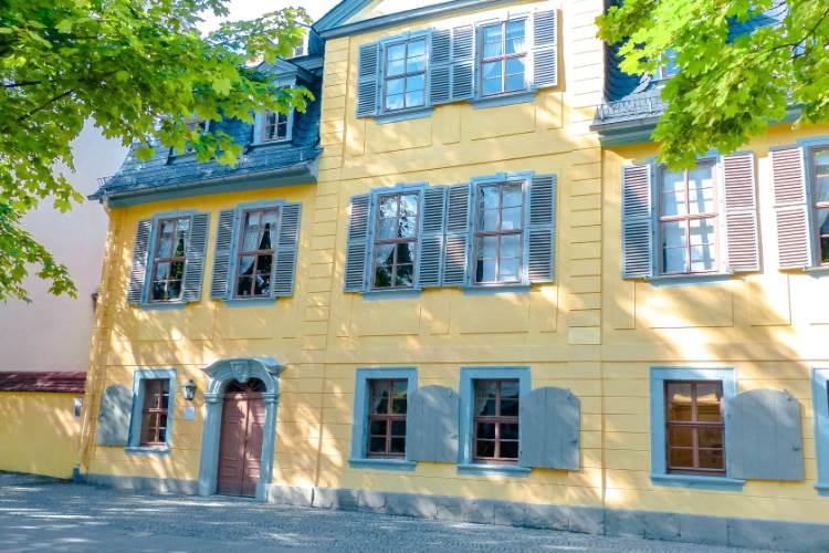 gelbes Schillerhaus in Weimar