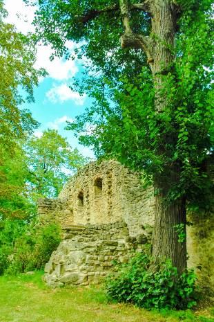 Ruine im Ilmpark in Weimar