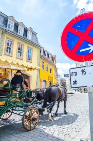 Kutsche vor Goethehaus