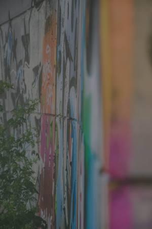 Graffiti amBusludscha-Denkmal in Bulgarien