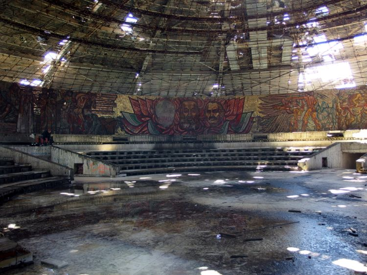 Das Innere von Das Busludscha in Bulgarien