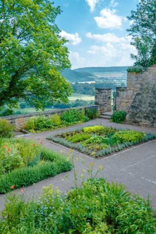 Gemüsegärten bei den Dornburger Schlössern
