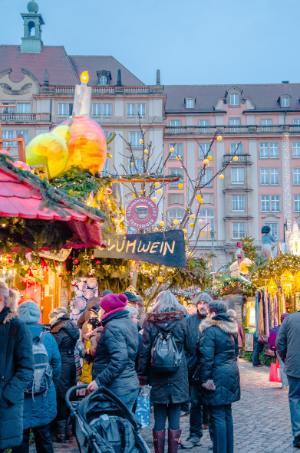 Glühweinbuden in Dresden