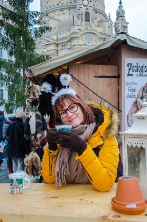 Glühweintrinken in Dresden