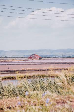 Haus in den Salzseen von Burgas