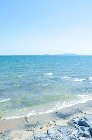 die Bucht von Burgas am Schwarzen Meer