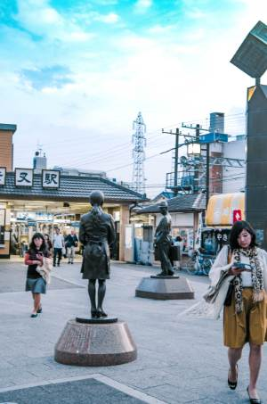 Statue von Tora in Shibamata, Tokio
