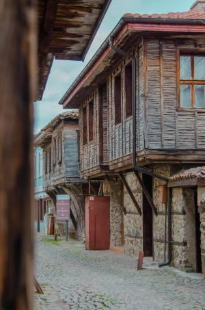 Holzhäuser in Bulgariens Sosopol