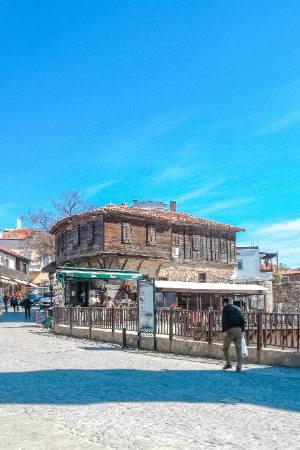 Beginn der Altstadt von Sozopol, Bulgarien