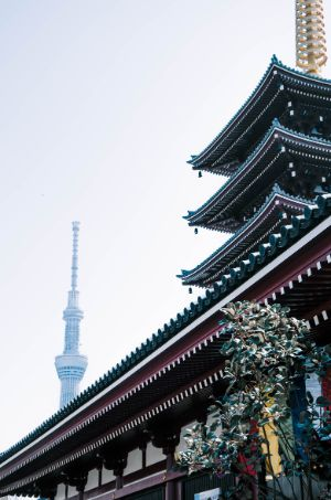 Sensoji Tempel und Skytree in Tokio