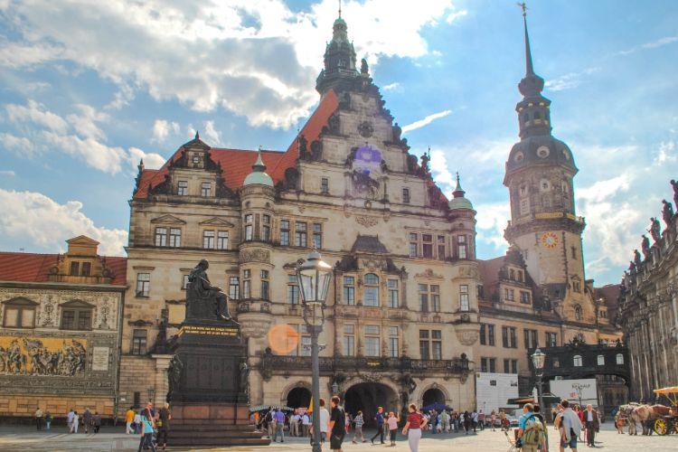 Dresdner Schloss in Sachsen