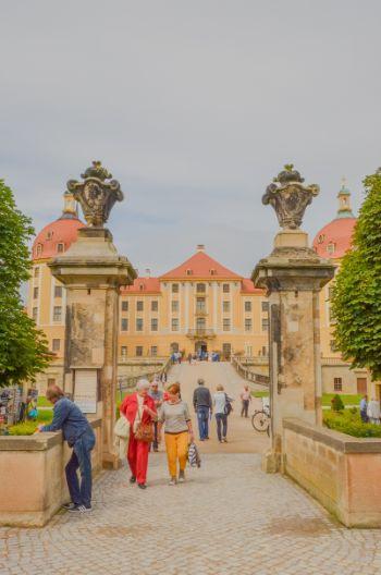 Eingang zu Schloss Moritzburg