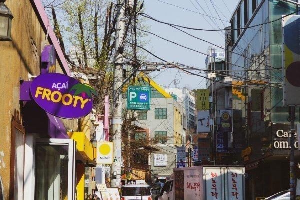 Läden in Seoul Hongdae