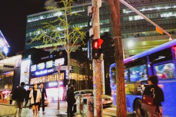 Nachtleben von Hingdae in Seoul