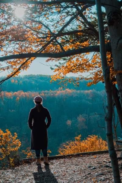 Blick von den Sonnenbergen in Jena im Herbst