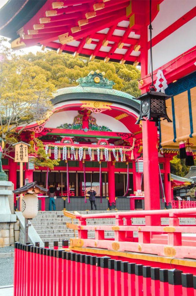 roter Fushimi Inari-Taisha Tempel in Kyoto
