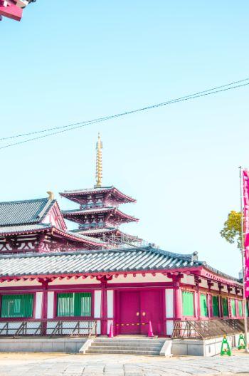 roter Tennoji Tempel in Osaka