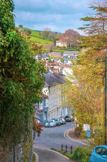 englische Häuser in Ashburton, Devon